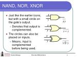 nand nor xnor