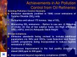 achievements in air pollution control from oil refineries42