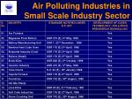 air polluting industries in small scale industry sector