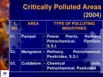 critically polluted areas 2004