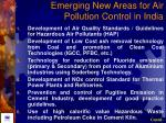 emerging new areas for air pollution control in india