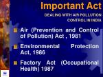 important act dealing with air pollution control in india