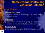 measures for controlling vehicular pollution