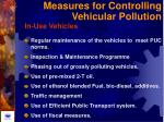 measures for controlling vehicular pollution51