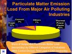 particulate matter emission load from major air polluting industries