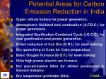 potential areas for carbon emission reduction in india
