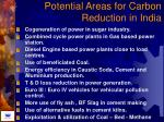 potential areas for carbon reduction in india