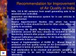 recommendation for improvement of air quality in india85