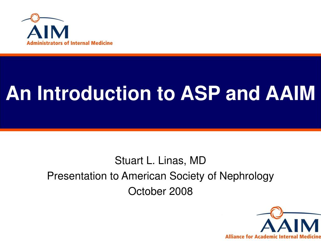 an introduction to asp and aaim l.