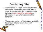 conducting fba