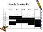 sample scatter plot