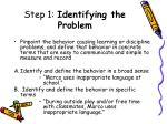 step 1 identifying the problem