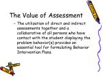 the value of assessment