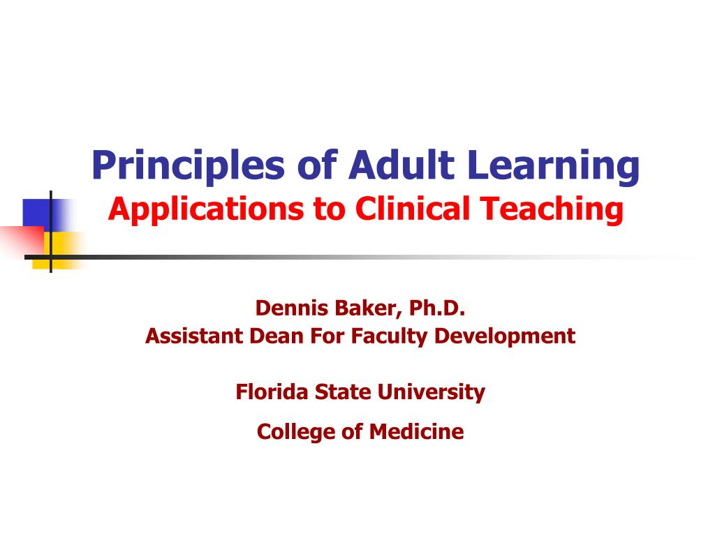 principles of adult learning l.