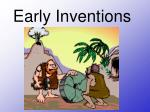 early inventions
