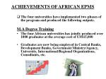 achievements of african epms