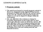 lessons learned cont d14