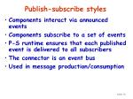 publish subscribe styles