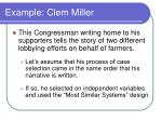 example clem miller