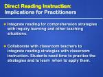 direct reading instruction implications for practitioners