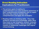 direct reading instruction implications for practitioners7