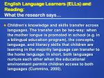 english language learners ells and reading what the research says21