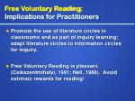 free voluntary reading implications for practitioners5