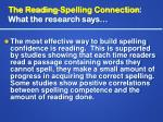 the reading spelling connection what the research says10