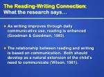 the reading writing connection what the research says14