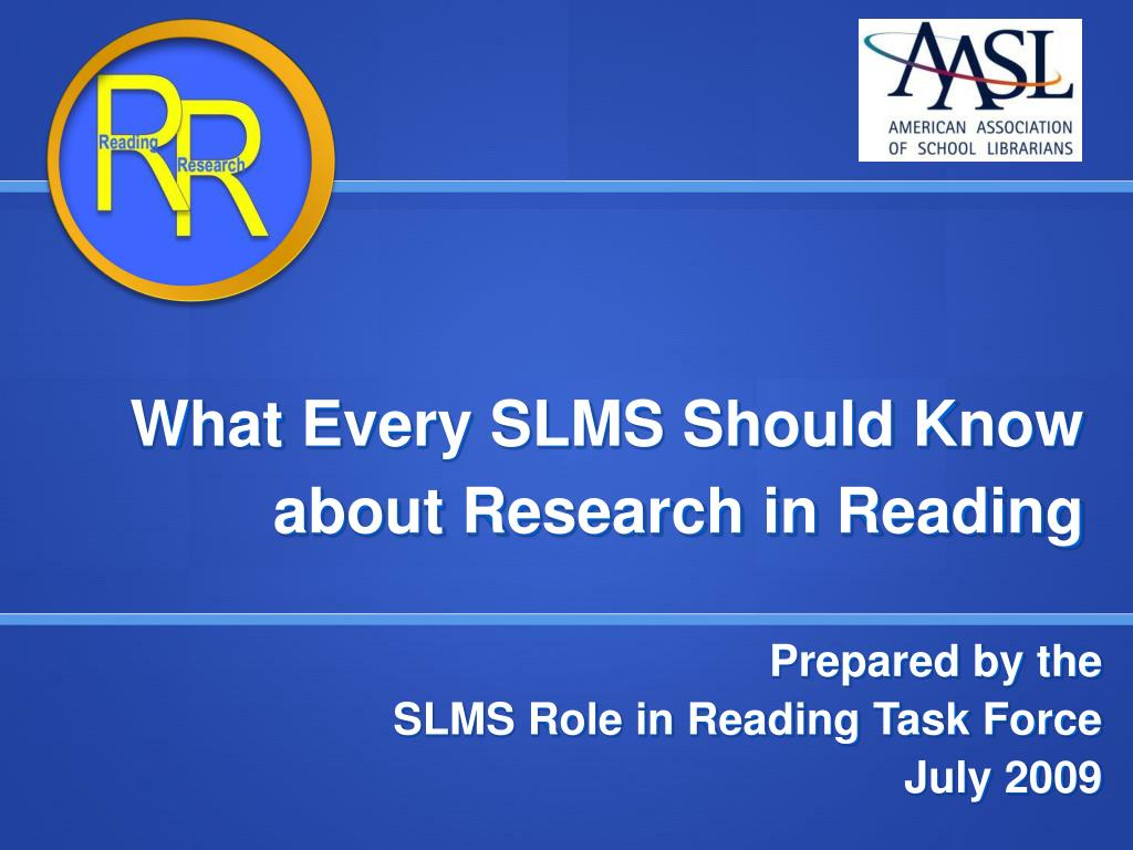 what every slms should know about research in reading l.