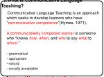 2 what is communicative language teaching