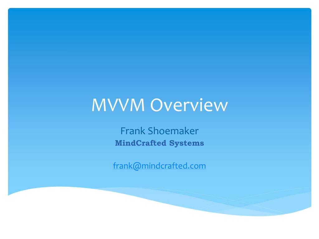 mvvm overview l.