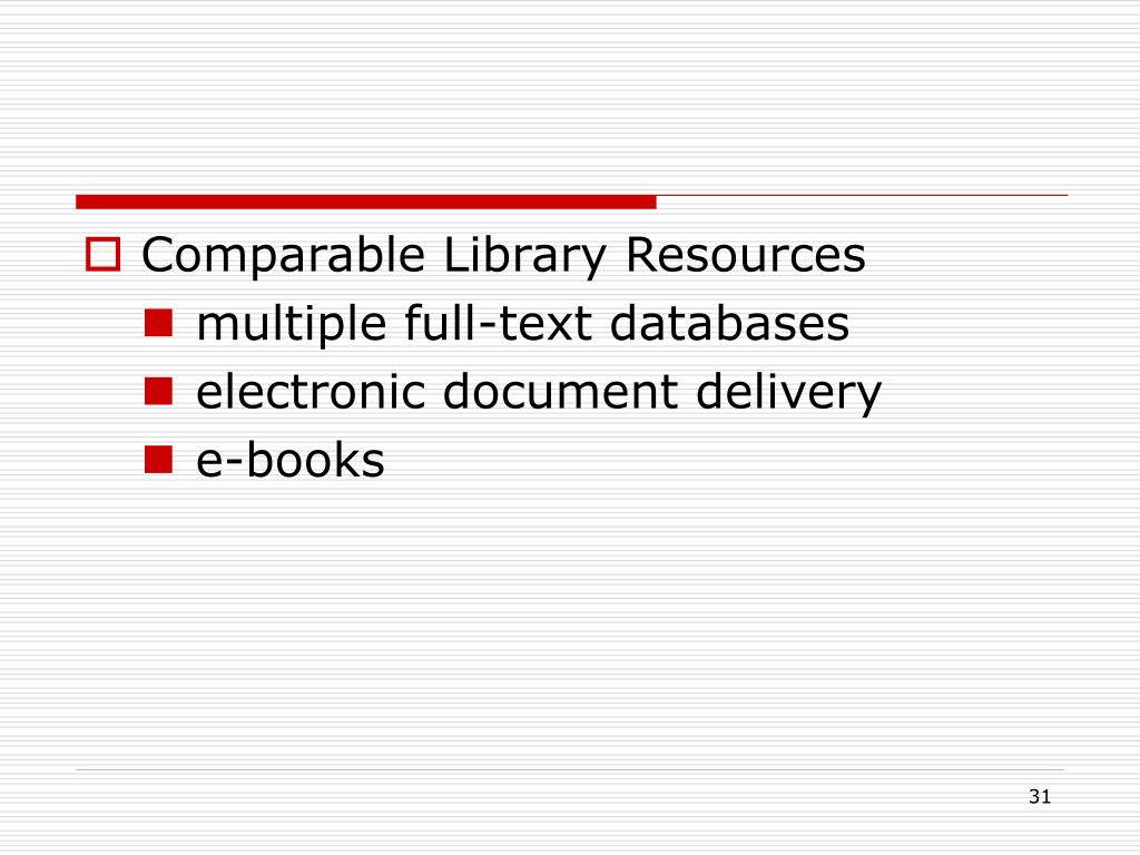Comparable Library Resources