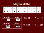 mayan maths