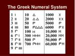 the greek numeral system