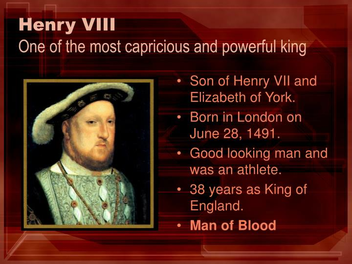 henry viii the king of england and ireland essay Essay, research paper: henry viii the church of england king henry the viii of england had a good side and a bad ireland henry, now the king.
