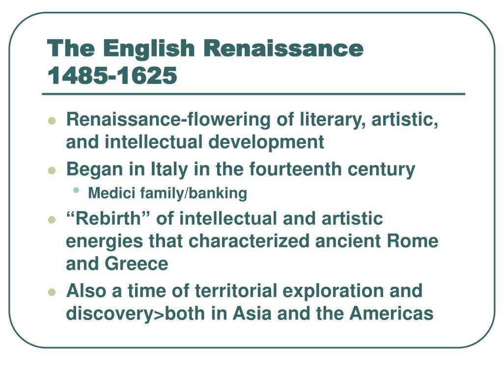 the english renaissance 1485 1625 l.