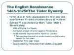 the english renaissance 1485 1625 the tudor dynasty13