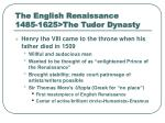 the english renaissance 1485 1625 the tudor dynasty4