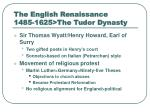 the english renaissance 1485 1625 the tudor dynasty7