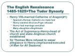 the english renaissance 1485 1625 the tudor dynasty8