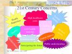 21st century concerns