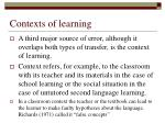 contexts of learning