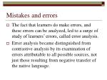 mistakes and errors14