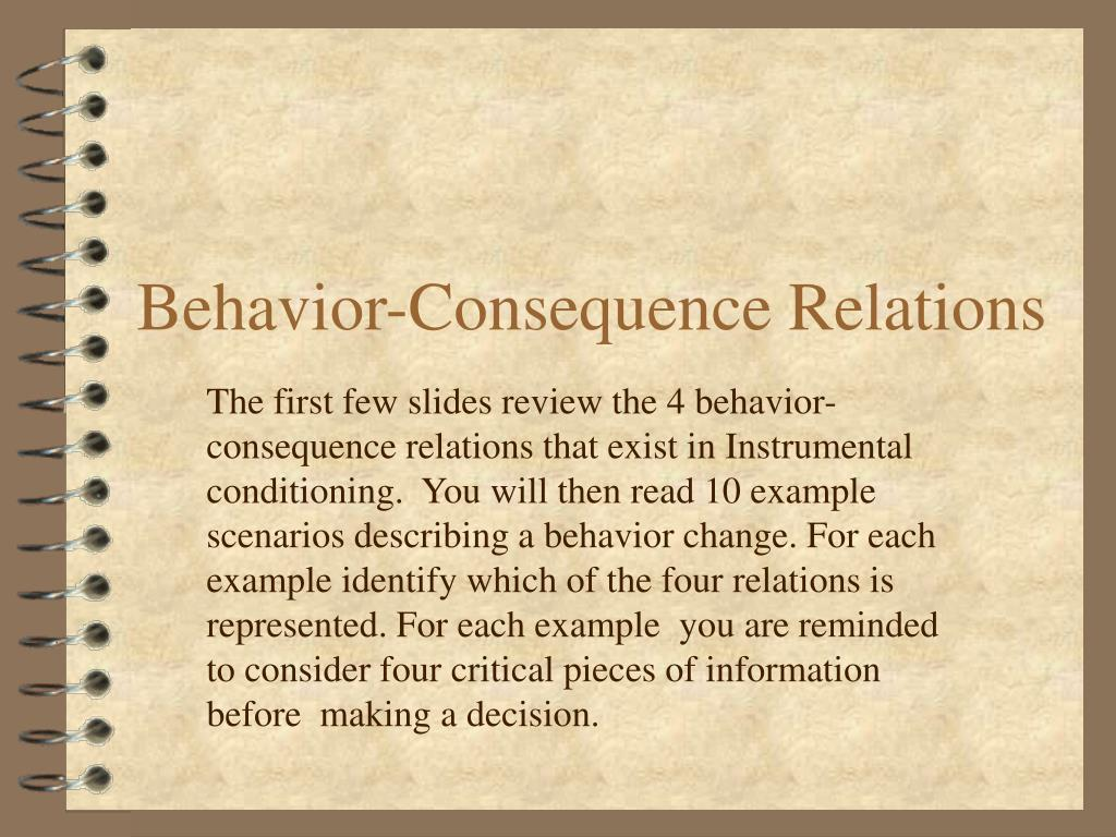 behavior consequence relations l.