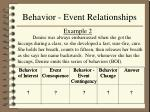behavior event relationships10