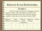 behavior event relationships12