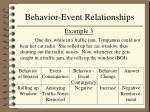 behavior event relationships13