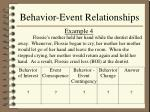 behavior event relationships14