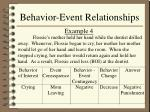 behavior event relationships15